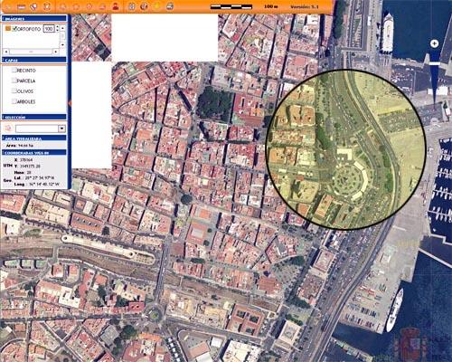 La imagen muestra la Plaza de España, en su estado anterior a las últimas obras realizadas