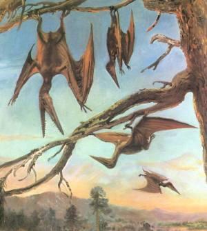 Esta imagen de pterodáctilos volando podria quedar en le imaginación