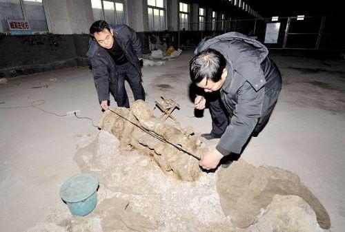La excavación ha sido suspendida debido al clima, pero Zhao afirmó que se reanudaria en la primavera