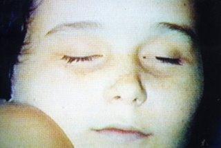 Imagen de la niña que finalmente acabo siendo asesinada por su madre