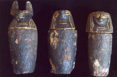 Representación de algunos de los dioses más conocidos de Egipto