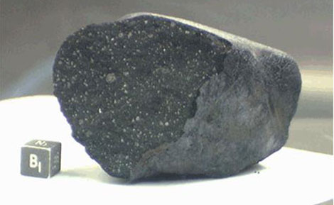 Un fragmento del meteorito que cayó en el lago Tagish de Canadá. | NASA