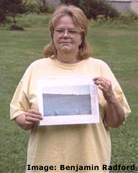 Sandra Mansi sostiene la foto que publicó Times o New York Times entre otros.