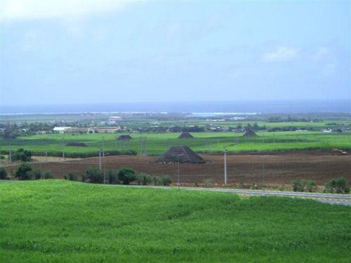 """Vista general de las """"pirámides de Mauricio"""""""