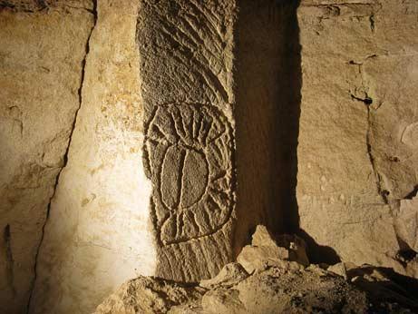 Este es el posible símbolo del zodiaco grabado en el pilar