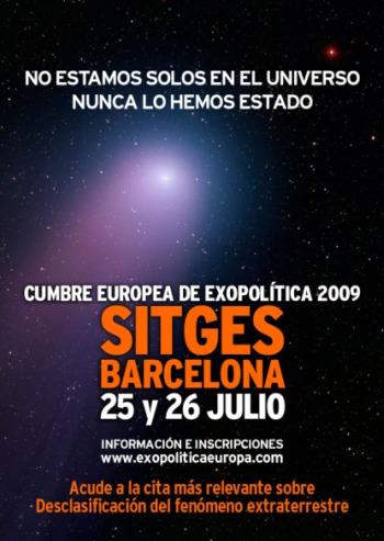 Cartel anunciador de las conferencias