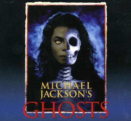 """Portada de uno de los singles-video clip de Michael Jackson titulado """"Ghosts"""""""