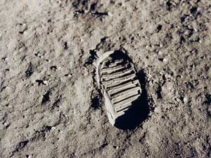 La famosa primera huella del hombre en La Luna
