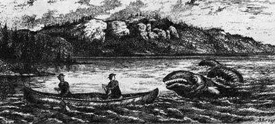 Una representación de la aparición del Ogopo en 1872 | Copyright: Public Domain