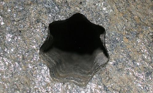 Imagen en detalle del agujero de Noruega.
