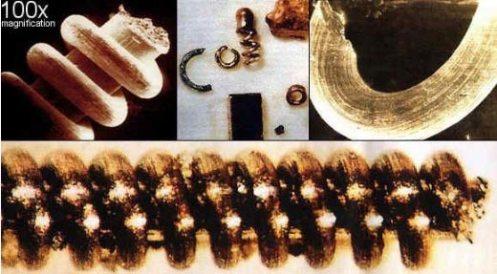 Algunas de las piezas encontradas en Los Urales