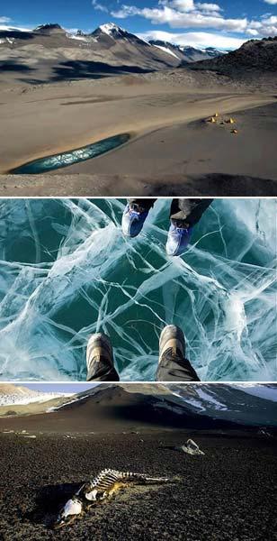 Los desiertos secos de la Antártida