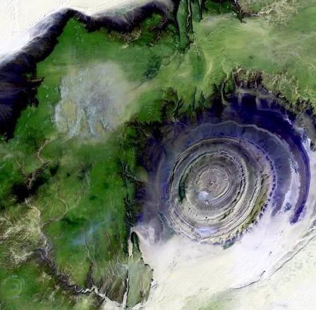 El ojo del Sahara