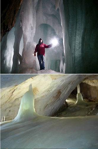 Las cuevas de hielo de Austria