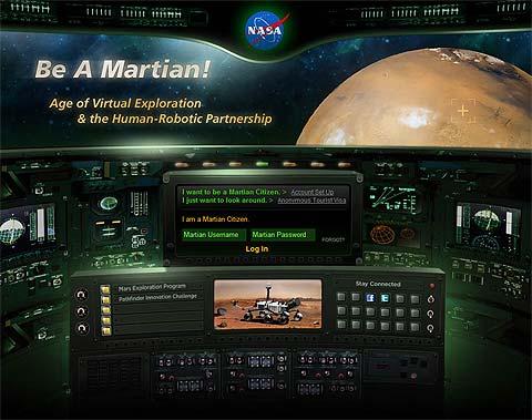 Portada de la visita virtual por Marte