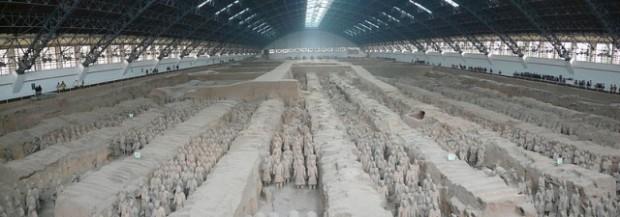 Descubren un palacio dentro de la tumba de guerreros  Soldados